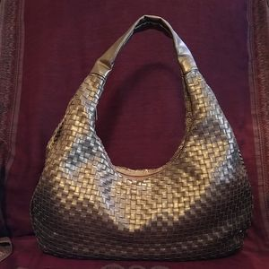 Bottega Veneta Large Copper Intrecciato Hobo